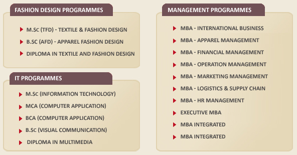 The Institute Is Offering Diploma Under Graduate And Post Fashion Courses In Full Time Part Basis Distance Mode